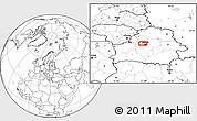 Blank Location Map of Minsk