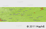 "Physical Panoramic Map of the area around 54° 3' 9"" N, 28° 7' 30"" E"