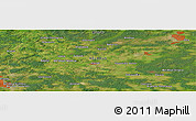 Satellite Panoramic Map of Bol'shoye Stsiklevo