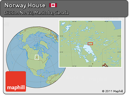 Free Savanna Style Location Map Of Norway House - Norway house map