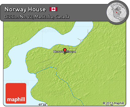 Free Physical Map Of Norway House - Norway house map