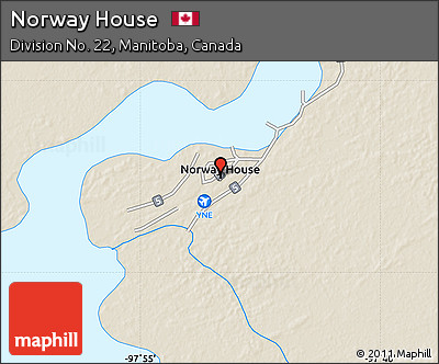 Free Shaded Relief Map Of Norway House - Norway house map
