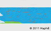 """Political Panoramic Map of the area around 54°3'9""""N,9°25'30""""E"""