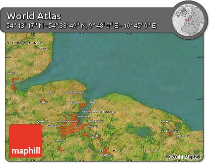 "Satellite Map of the Area around 54°26'3""N,10°16'30""E"