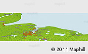 Physical Panoramic Map of Kiel