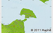 """Physical Map of the area around 54°26'3""""N,11°7'30""""E"""