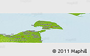 "Physical Panoramic Map of the area around 54° 26' 3"" N, 11° 7' 30"" E"