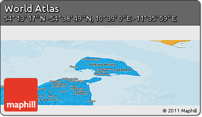 """Political Panoramic Map of the Area around 54°26'3""""N,11°7'30""""E"""