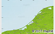 """Physical Map of the area around 54°26'3""""N,16°13'30""""E"""