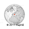 """Outline Map of the Area around 54° 26' 3"""" N, 16° 13' 30"""" E, rectangular outline"""