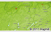 """Physical 3D Map of the area around 54°26'3""""N,17°55'29""""E"""