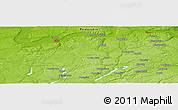 """Physical Panoramic Map of the area around 54°26'3""""N,17°55'29""""E"""