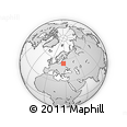 """Outline Map of the Area around 54° 26' 3"""" N, 26° 25' 29"""" E, rectangular outline"""