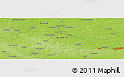 """Physical Panoramic Map of the area around 54°26'3""""N,26°25'29""""E"""