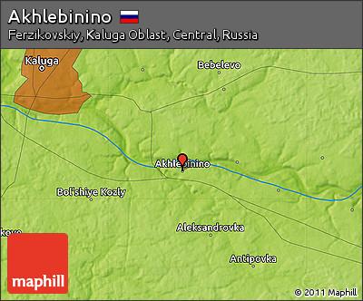 Физическая карта Ахлебинино