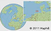 "Savanna Style Location Map of the area around 54°26'3""N,6°52'30""E"