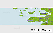 """Physical Panoramic Map of the area around 54°26'3""""N,8°34'29""""E"""