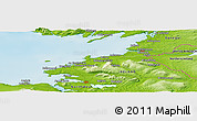 "Physical Panoramic Map of the area around 54° 26' 3"" N, 8° 25' 30"" W"