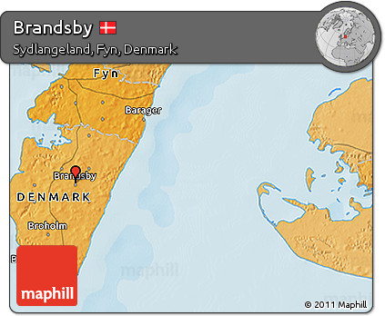 Political 3D Map of Brandsby