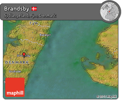Satellite 3D Map of Brandsby