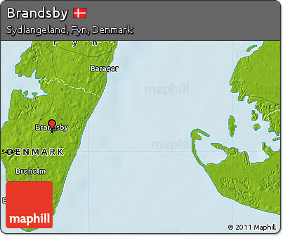 Physical Map of Brandsby