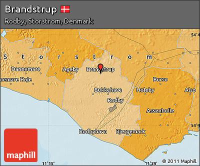 Political Map of Brandstrup