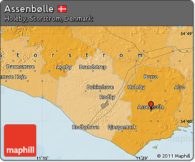 Political Map of Assenbølle