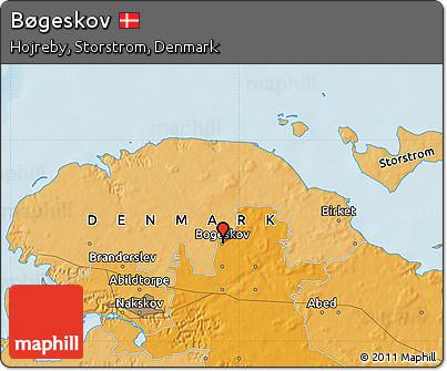 Political Map of Bøgeskov