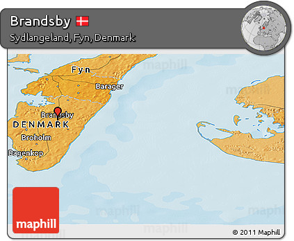 Political Panoramic Map of Brandsby