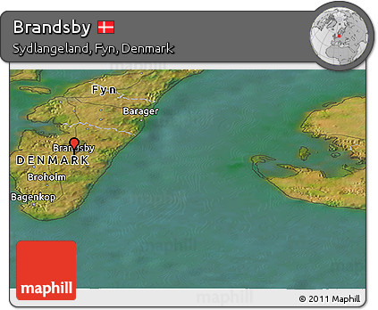 Satellite Panoramic Map of Brandsby