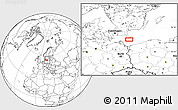 """Blank Location Map of the area around 54°48'50""""N,14°31'30""""E"""