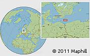 "Savanna Style Location Map of the area around 54°48'50""N,14°31'30""E"