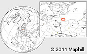"""Blank Location Map of the area around 54°48'50""""N,15°22'30""""E"""