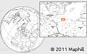 """Blank Location Map of the area around 54°48'50""""N,16°13'30""""E"""