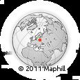 Outline Map of Khotilki, rectangular outline