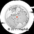 Outline Map of Bolgar, rectangular outline