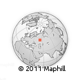 Outline Map of Cheremshansky District, rectangular outline