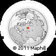 Outline Map of Ufa, rectangular outline