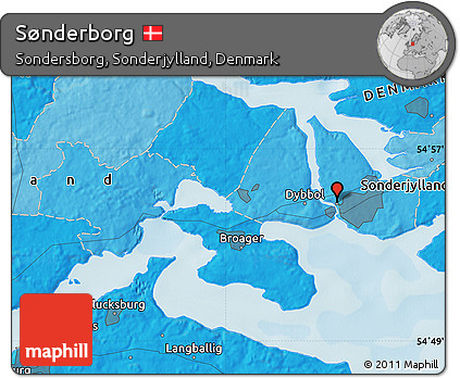 Free Political Map of Snderborg