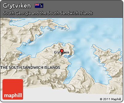 Free Shaded Relief 3D Map of Grytviken