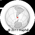 Outline Map of Sarmiento, rectangular outline