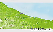 """Physical 3D Map of the area around 54°33'39""""S,66°13'29""""W"""
