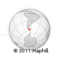 """Outline Map of the Area around 54° 33' 39"""" S, 66° 13' 29"""" W, rectangular outline"""