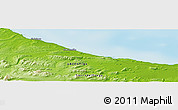 """Physical Panoramic Map of the area around 54°33'39""""S,66°13'29""""W"""
