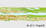"Physical Panoramic Map of the area around 54° 33' 39"" S, 67° 55' 30"" W"