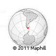 Outline Map of Comandante Portillo, rectangular outline