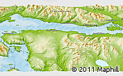 """Physical 3D Map of the area around 54°56'24""""S,67°55'30""""W"""