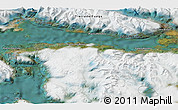 """Satellite 3D Map of the area around 54°56'24""""S,67°55'30""""W"""