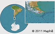 "Satellite Location Map of the area around 54°56'24""S,67°55'30""W"