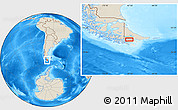 """Shaded Relief Location Map of the area around 54°56'24""""S,67°55'30""""W"""